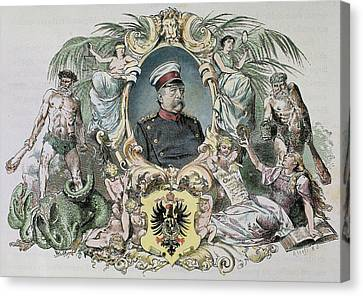 Political Allegory Canvas Print - Otto-leopold Bismarck, Prince by Prisma Archivo
