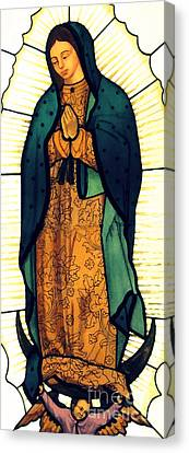 Gold Star Mother Canvas Print - Our Lady Of Guadalupe by Patricia Januszkiewicz