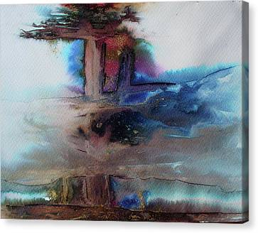 Canvas Print featuring the painting Out Of The Mist by Mary Sullivan