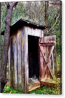 Outhouse Canvas Print by Janice Spivey