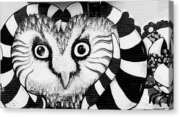 Canvas Print featuring the photograph Owl Mural by Ricky L Jones