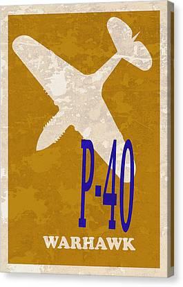 P-40 Warhawk Canvas Print by Mark Rogan
