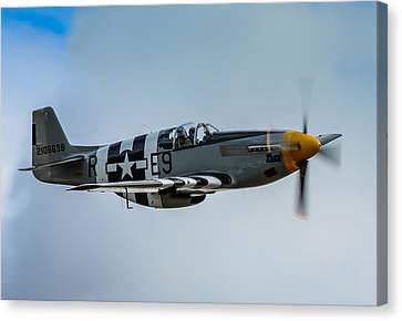P 51 Mustang Fighter Plane  Canvas Print by Puget  Exposure