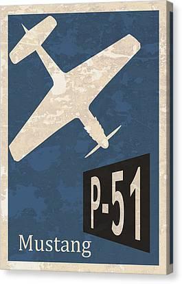 P-51 Mustang Canvas Print by Mark Rogan
