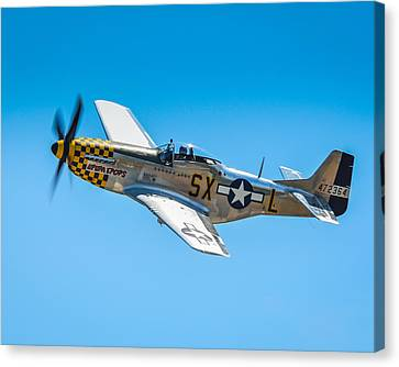P-51 Mustang Canvas Print by Puget  Exposure