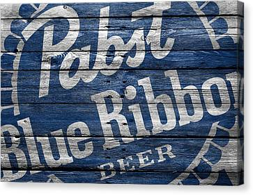Pabst Blue Ribbon Canvas Print by Joe Hamilton