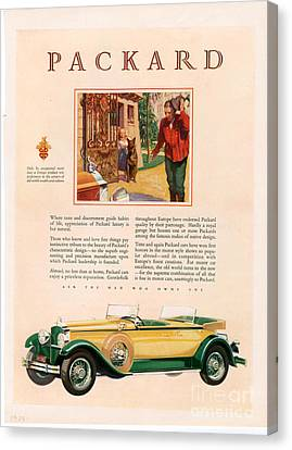 Packard 1928 1920s Usa Cc Cars Canvas Print by The Advertising Archives