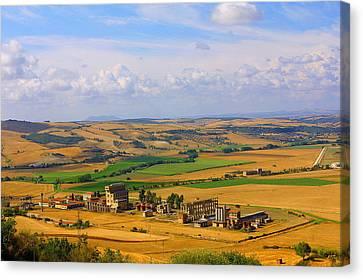 Landscape Tarquinian Former Oil Mill Canvas Print
