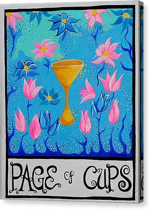 Page Of Cups Canvas Print by Rebekah Lindner