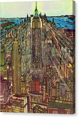 New York Mid Manhattan 1971 Canvas Print