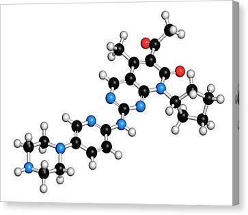 Palbociclib Breast Cancer Drug Molecule Canvas Print