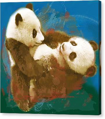 To Know Canvas Print - Panda - Stylised Drawing Art Poster by Kim Wang
