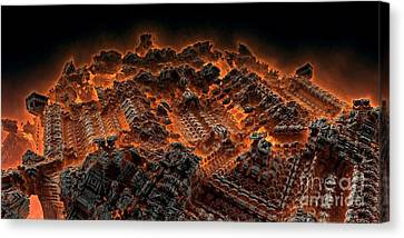 Pandemonium Canvas Print by Bernard MICHEL