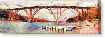 Panoramic View Of Bridge In Cuba Canvas Print