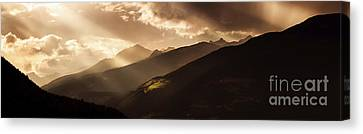 Panoramic View Of Dolomite Alps Canvas Print by Evgeny Kuklev
