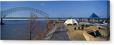 Panoramic View Of Mississippi River Canvas Print by Panoramic Images