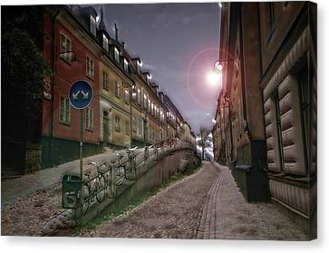 Paper Route Canvas Print by David Fox