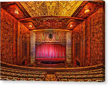 Paramount Theatre - Oakland California Canvas Print by Mountain Dreams