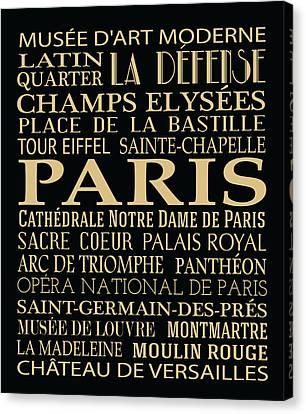 Bus Roll Canvas Print - Paris Attractions by Jaime Friedman