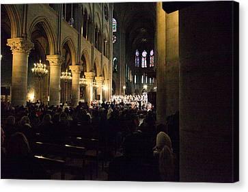 Paris France - Notre Dame De Paris - 01131 Canvas Print