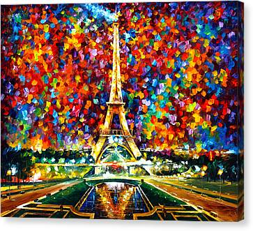 Paris Of My Dreams Canvas Print by Leonid Afremov