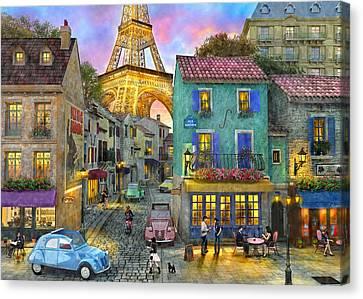 Paris Streets Canvas Print by Dominic Davison