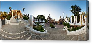 Park Guell, Barcelona, Catalonia, Spain Canvas Print by Panoramic Images
