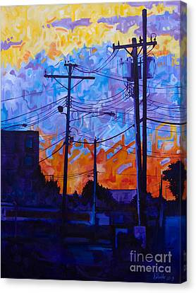 Parking Lot Sunset Canvas Print