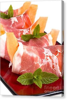 Cantaloupe Canvas Print - Parma Ham And Melon by Jane Rix