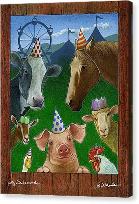 Party With The Animals... Canvas Print