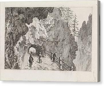Passage In The Rocks, David Van Der Kellen IIi Canvas Print by David Van Der Kellen (iii) And Marinus Van Raden