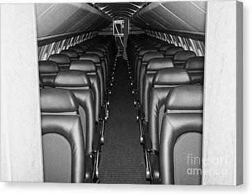 passenger cabin of the British Airways Concorde  Canvas Print