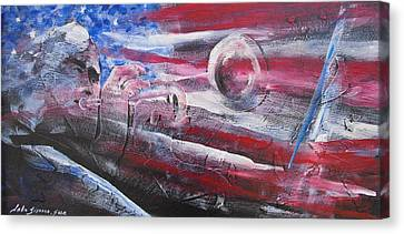 Passionate Sound Canvas Print by John  Svenson
