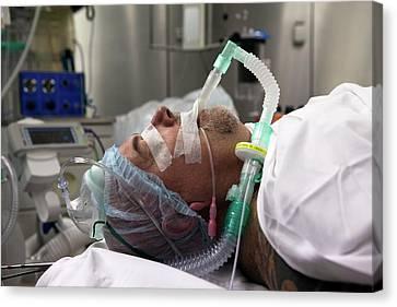 Unconscious Canvas Print - Patient Prepared For Surgery by Patrick Landmann