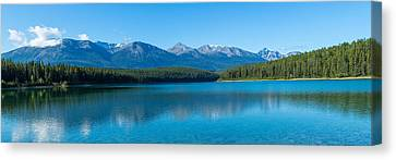 Patricia Lake With Mountains Canvas Print by Panoramic Images
