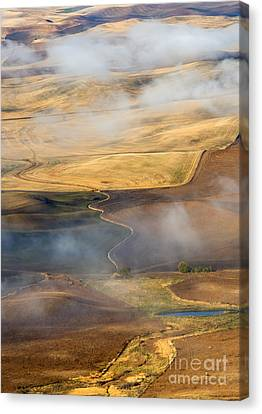 Patterns Of The Land Canvas Print by Mike  Dawson
