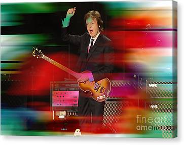 Paul Mccartney Then And Now Canvas Print