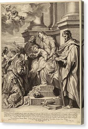 Child Jesus Canvas Print - Paulus Pontius, After Sir Anthony Van Dyck Flemish by Quint Lox