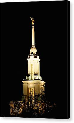 Payson Temple  Canvas Print by Gloria Pasko