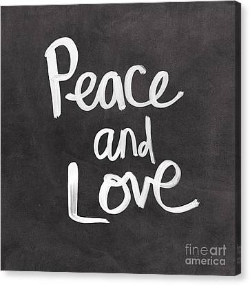 Peace And Love Canvas Print by Linda Woods