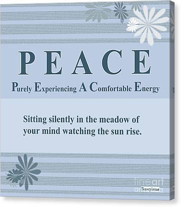 Peace Buseyism By Gary Busey Canvas Print by Buseyisms Inc Gary Busey