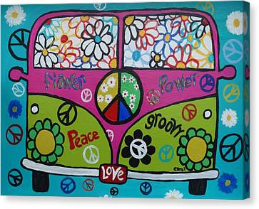 Peace Love Dub Canvas Print by Carol Hamby