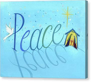 Nativity Canvas Print - Peace by P.s. Art Studios