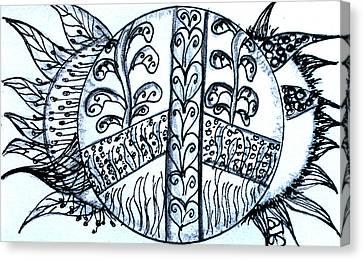 Peace Sun Flower Canvas Print