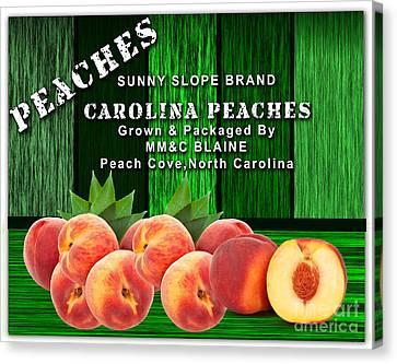 Peach Farm Canvas Print by Marvin Blaine