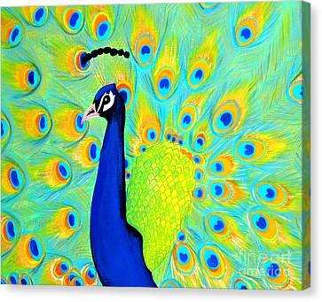 Peacock. Inspirations Collection. Canvas Print by Oksana Semenchenko