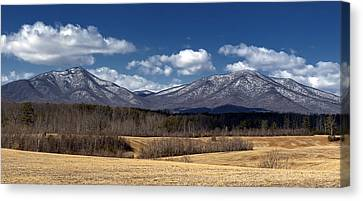 Peaks Of Otter Mountains Canvas Print by Steve Hurt