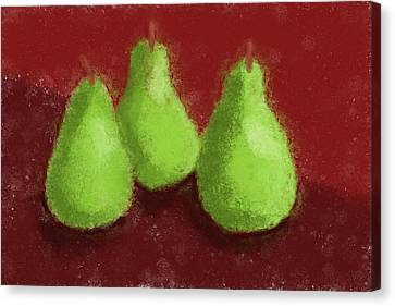 Pear Trio Canvas Print by Heidi Smith