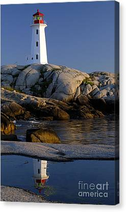 Peggy's Cove Lighthouse Canvas Print by Norman Pogson