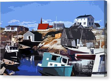 Peggy's Cove Canvas Print by Lydia Holly